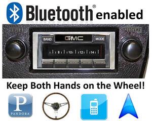 Bluetooth Enabled 1973-1988 GMC Truck 300 watt AM FM Stereo Radio iPod, USB