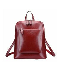 Cowhide and Women's Vintage Leather Backpack Casual Daypack for Ladies and Girls