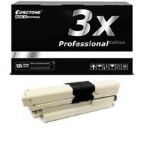 3x Eurotone Pro Cartridge Black for Oki ES-5462-DN ES-5431-DN ES-5462-DNw