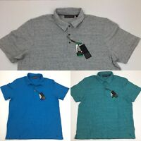 NEW Ike Behar Men's Short Sleeve Pique Polo Shirt Gray Blue Green
