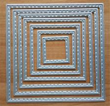 7stk Stanzschablone Quadrat Winter Weihnachten Valentinstag Oster Karte Deko DIY
