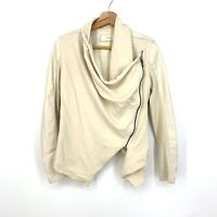 Size XSmall Anthropologie BlankNYC Faux Leather Drape Asymmetric Jacket C095