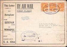 CANADA, 1924. First Flight Advert. Cover, Estevan - Winnipeg