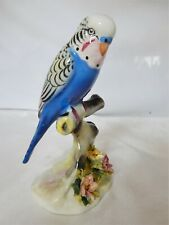 More details for lovely quality vintage bone china figure of a budgerigar by royal doulton