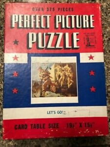 Vintage 1940's PERFECT PICTURE PUZZLE LET'S GO No. P50