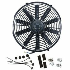 Universal 16'' Electric Straight Blade 12v Reversible Electric Fan 2800CFM Black