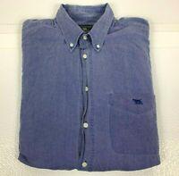 Rodd & Gunn Men's Button Down Shirt Long Sleeve Shirt Chambray Size S Made in NZ