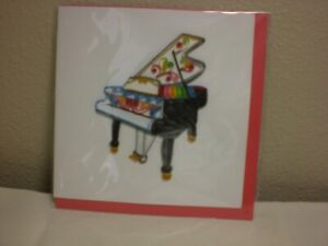 Quilling Cards LLC - 3D Grand Piano Note Card