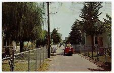Golf Cart on TANGIER ISLAND Street--Rare Chesapeake Bay Vintage PC ca. 1967