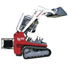 TAKEUCHI TL150 Rubber Track Loader Service , Operator's & Parts Manual CD