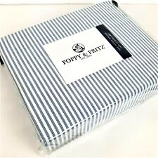 Poppy & Fritz Twin XL 100% Cotton Percale Sheet Set Oxford Stripes New n Package