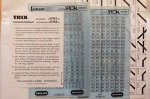 Trix - Nummernset für das Gleisbild-Stellpult