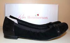 New Ros Hommerson Women's Rosita Cap Toe Flat 11N Black Combo Suede