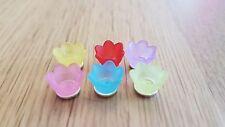 6 Miniature Pastel Ice cream flower BOWLS / CUPS 1:12th or 1:24th dollshouse UK