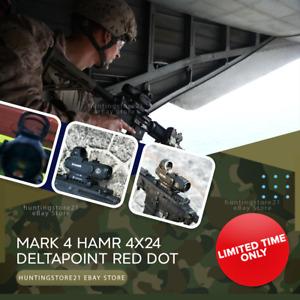 Leupold Mark 4 HAMR 4x24 Rifle Scope Red Dot Delta-point Tactical Reflex Sight ✅