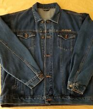VTG XL Las Vegas Retired Aladdin Casino Embroidered Genie Lamp Jean Denim Jacket