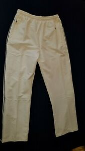 STORMTECH WHITE JUNIORS TRACK PANTS SIZE YOUTH XL NWT ZIP POCKETS, LEG OPENINGS