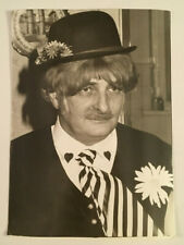 Vintage Unusual Funny Photo Man Dressed in a Costume for Halloween or Play #4150