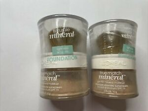 Lot of 2 - Loreal True Match Mineral Foundation SPF19
