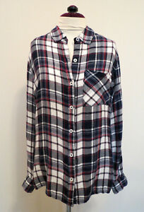 Charlotte Russe Women's XS Plaid Flannel Shirt Long Sleeve