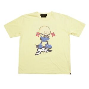 20471120 x Roarguns T-Shirt Yellow Double Sided Hyoma Print Size L