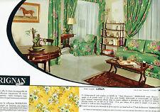 PUBLICITE ADVERTISING 115  1964  MARIGNAN  tissus ameublement  M. HIRCH ( 2p)