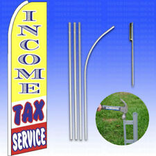 Feather Flag Swooper Advertising Flag Banner Sign 15' Tall Kit - Income Tax Serv