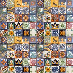 150 Asorted 4x4 Tiles Handmade Handpainted Talavera Mexico Tile