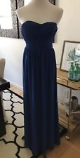 Lulus Blue Strapless Maxi Dress Xs Bridesmaid Wedding Party Prom Formal