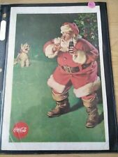 1961 Vintage Original Coca-Cola Advertisement - Santa