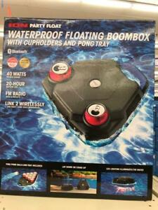 ionparty float Waterproof Floating Boombox with Cupholders and Pong Tray