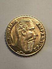 100 BRILLIANT UNCIRCULATED 1865 MEXICAN MAXIMILIAN PESOS mini gold coins
