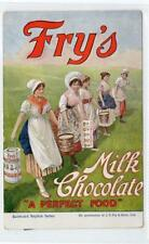 """FRY'S MILK CHOCOLATE """"A PERFECT FOOD"""": advertising postcard (C29914)"""