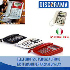 TELEFONO FISSO PER CASA UFFICIO TASTI GRANDI PER ANZIANI DISPLAY