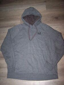 UA Under Armour mens XXL hoodie sweatshirt pullover gray black logo pockets
