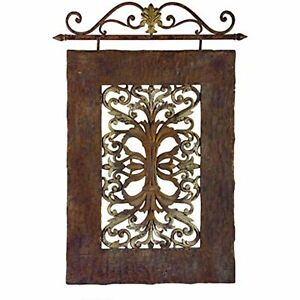 IMAX 1107 Casa Lucia Mediterranean Hanging Decorative Wall Panel Metal and Resin
