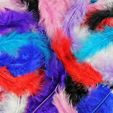 200 x Fluffy Marabou Feathers - Card Making Embellishments - Choose Colour