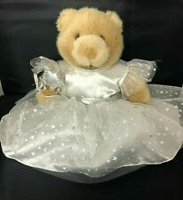 Brown Build-a-Bear White White Fairy Princess Satin And Lace Dress And A Wand
