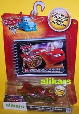 T - DRAGON Lightning McQueen with Metallic Finish + Guide - Disney Cars Toons