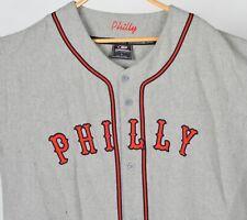 Vintage Philadelphia Phillies Philly Baseball Jersey Mens L Colosseum Gray