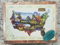 """USA GOLF COURSES Vintage 2001 Map 18"""" x 24"""" 550 Piece NEW Sealed Jigsaw PUZZLE"""