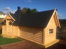 9.2m BBQ Hut with 3.6m2  extension / Grill Cabin / Summer House / Garden Office