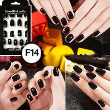 24pcs Pure Manicure Patch Milk Pink Color Short Square Full False Nails