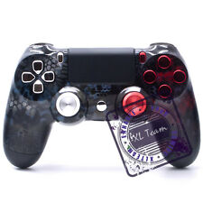 SONY DUALSHOCK 4 CUSTOM PS4 RED SILVER CAMO CHROME BUTTONS CONTROLLER BRAND NEW