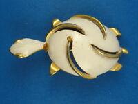 """FABULOUS 60's CHIC LARGE ENAMEL TURTLE BROOCH PIN ~ 2"""""""