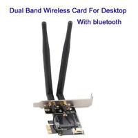NGFF Wireless Card To PCIe 1X 8X 16X Desktop WIFI WLAN CARD Adapter bluetooth
