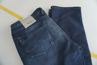 PEPE JEANS regular fit straight hight waist stretch Hose W31 L34 blau NEU P5