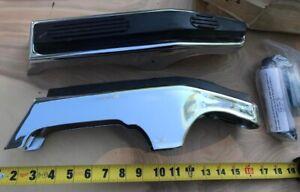 NOS BUMPER GUARDS 1986-1987 FORD ECONOLINE VAN w/plastic strip Gem RARE Vintage.