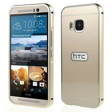 HTC One M9 M8 Mobile Phone Aluminum Metal Bumper Case+Hard Back Protective Cover