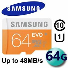 Samsung 64GB Evo micro SD SDXC 48MB/s Class10 MEMORY CARD For ANDROID SMARTPHONE